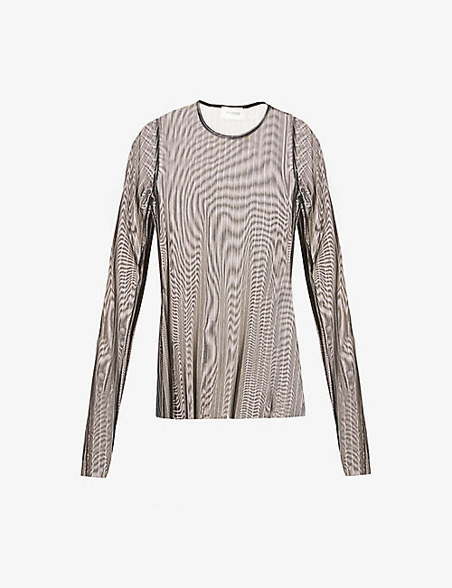 SPORTMAX: Tempra striped mesh top