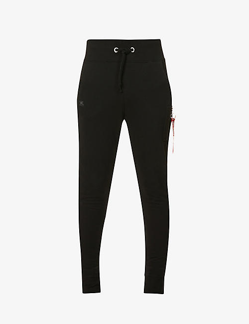 ALPHA INDUSTRIES: Brand-patch relaxed-fit cotton-blend jogging bottoms