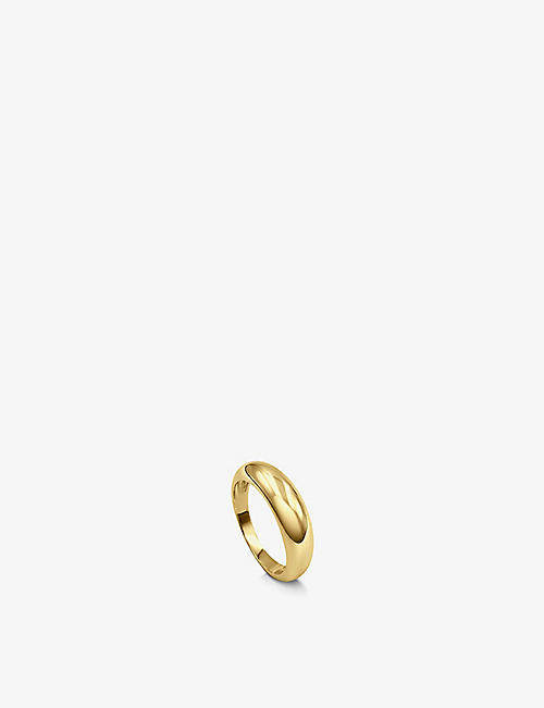 DAPHINE: Oli 18ct yellow gold-plated ring