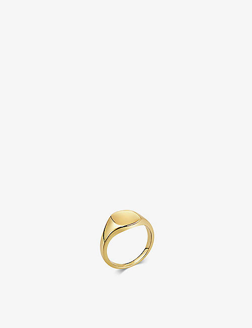 DAPHINE: Baby Eddie 18ct yellow gold-plated signet ring