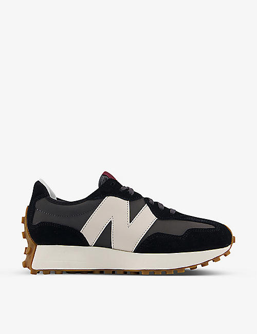 NEW BALANCE: New Balance x Casablanca 327 perforated leather and suede trainers
