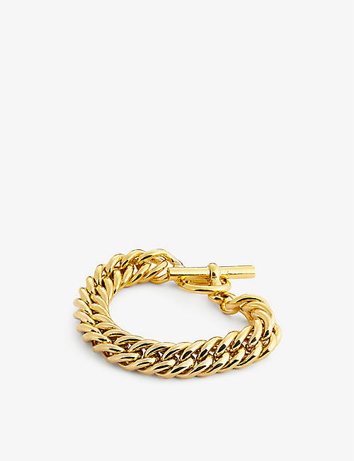 TILLY SVEAAS LTD: Large Curb 23.5ct gold-plated bracelet