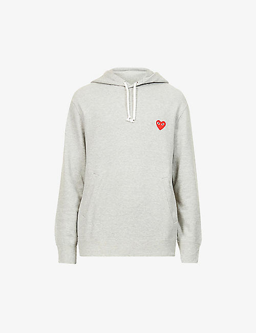 COMME DES GARCONS PLAY: Logo-embroidered cotton-jersey hoody