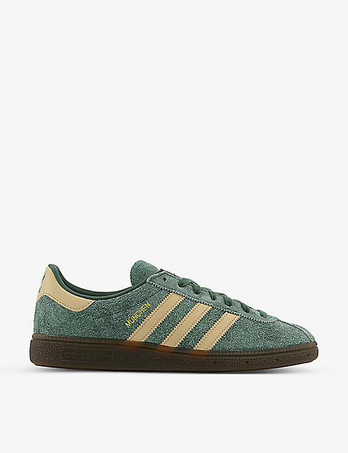 ADIDAS: München suede low-top trainers