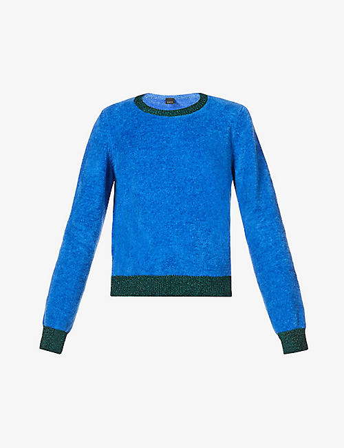 PINKO: Giavellotto loose-fit cotton-blend jumper