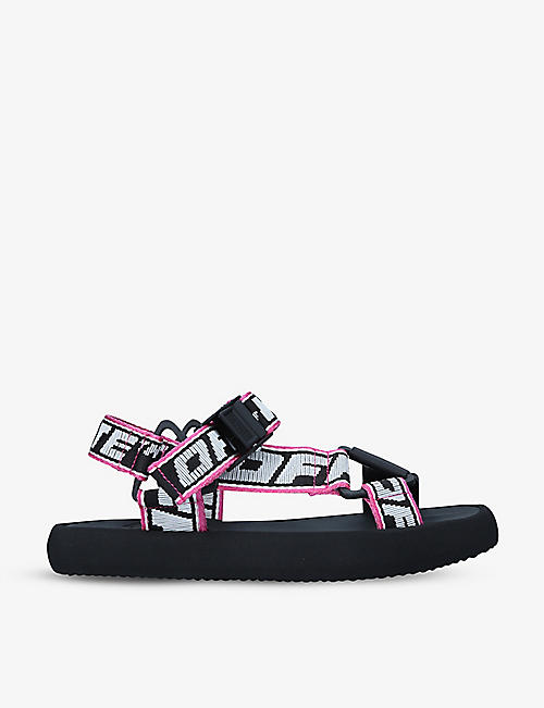 OFF-WHITE C/O VIRGIL ABLOH: Trek logo-print webbed textile sandals