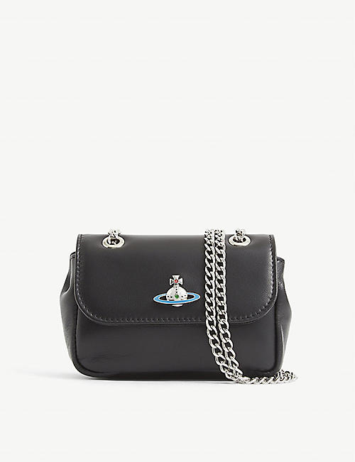 VIVIENNE WESTWOOD: Emma leather purse with chain
