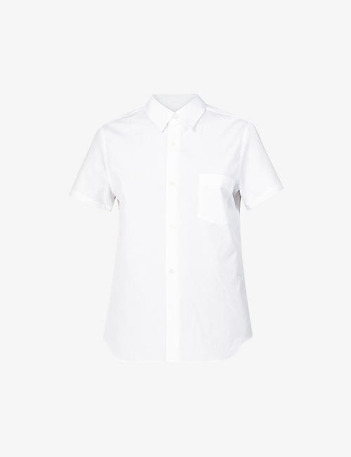 COMME DES GARCONS GIRL: Short-sleeved regular-fit cotton shirt