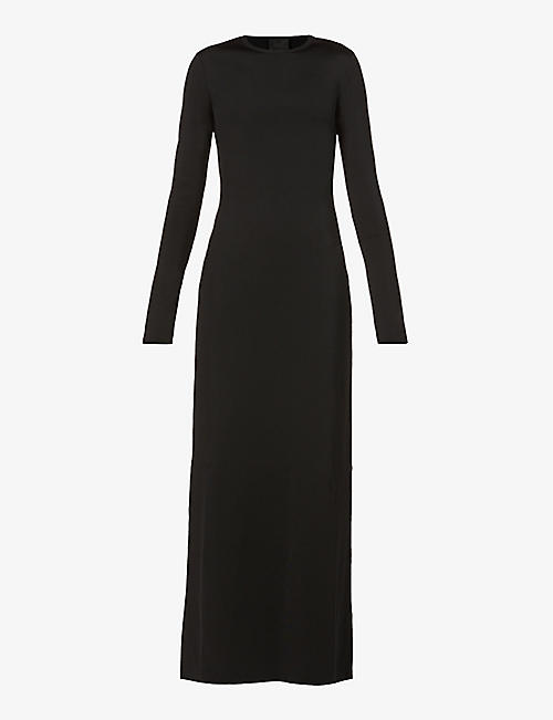 GIVENCHY: Open-back stretch-woven maxi dress