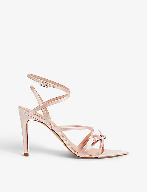 TED BAKER: Relanas satin-leather heeled sandals