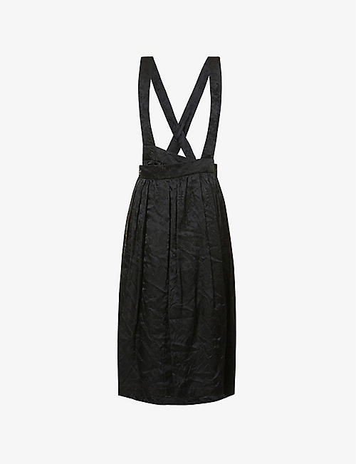 COMME COMME DES GARCONS: High-waisted jacquard midi skirt