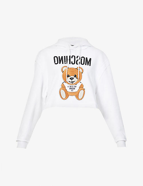 MOSCHINO: Bear-print cotton-jersey sweatshirt