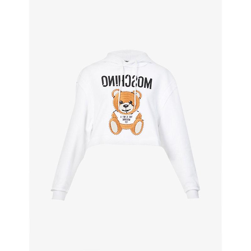 Bear-print cotton-jersey sweatshirt