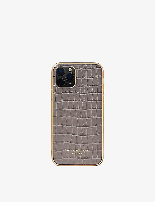 ASPINAL OF LONDON: iPhone 12 mini leather phone case