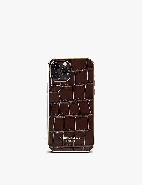 ASPINAL OF LONDON: iPhone 12 Pro leather phone case