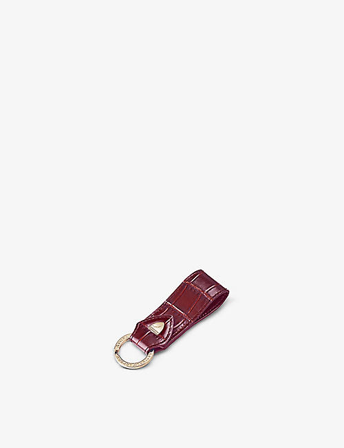 ASPINAL OF LONDON: Leather loop keyring