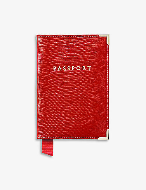 ASPINAL OF LONDON: Leather passport cover