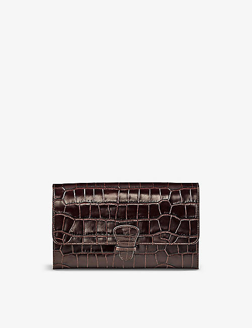 ASPINAL OF LONDON: Leather travel wallet