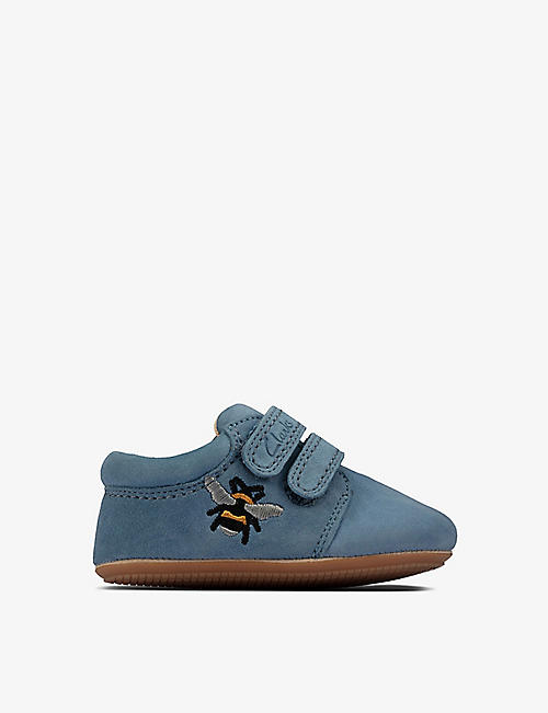 CLARKS: Star Hope leather shoes 0-23 months