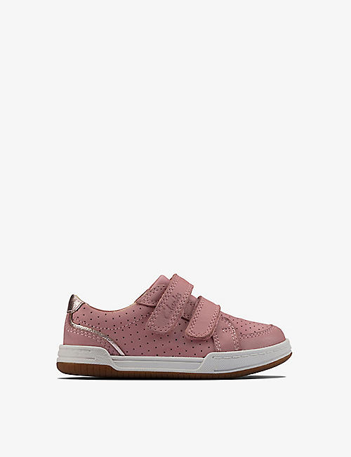 CLARKS: Fawn Solo leather trainers 2-4 years