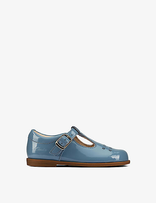 CLARKS: Drew Play patent-leather T-bar shoes 23 months - 4 years