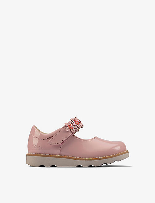 CLARKS: Crown Petal patent-leather shoes 0-4 years