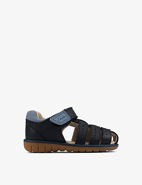 CLARKS: Roam Bay leather sandals 0-24 months