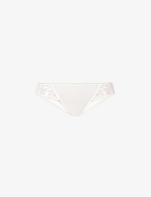 MAISON LEJABY: Sin mid-rise stretch-tulle briefs
