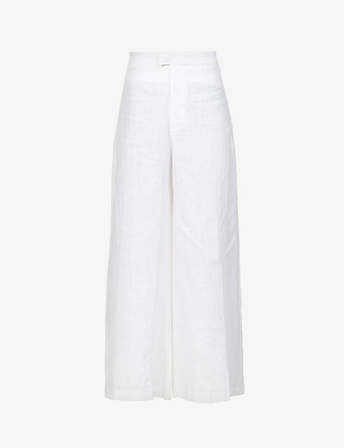 FAITHFULL THE BRAND: Duda wide-leg linen trousers