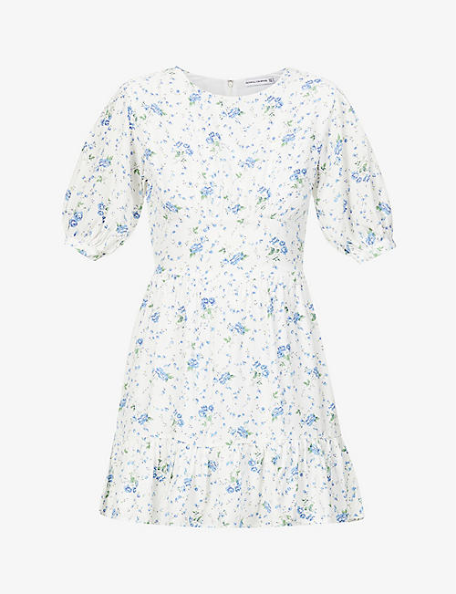 FAITHFULL THE BRAND: Desmond floral-print woven mini dress