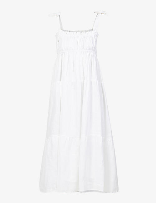 FAITHFULL THE BRAND: Bellamy sleeveless linen midi dress
