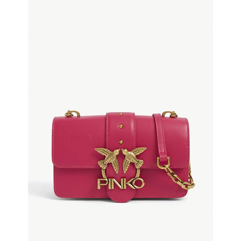 Pinko Leathers MINI LOVE LEATHER CROSS-BODY BAG