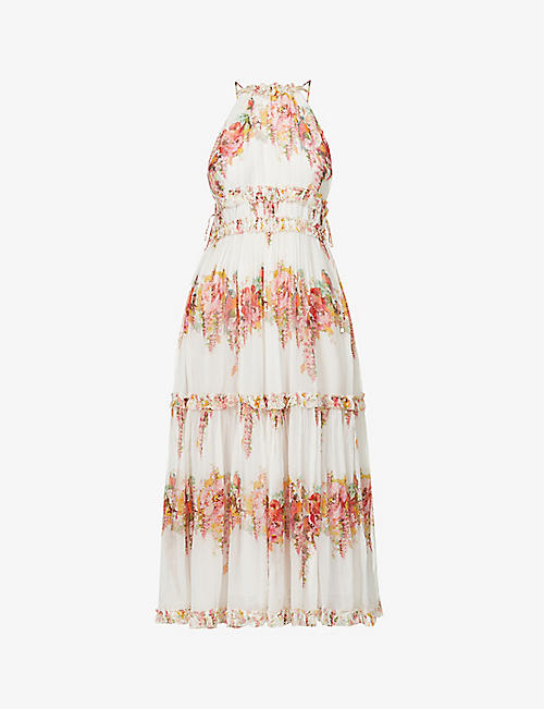 : Mae floral-print silk maxi dress