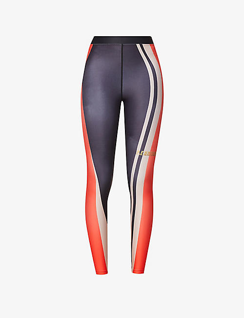P.E NATION: Pace Change high-rise stretch-recycled-polyester leggings
