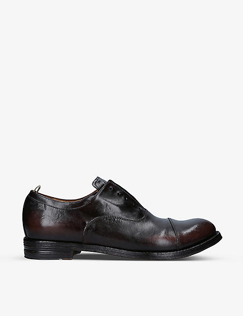 OFFICINE CREATIVE: Anatomia laceless leather Derby shoes