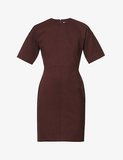 VICTORIA VICTORIA BECKHAM: Scoop-neck stretch-woven mini dress