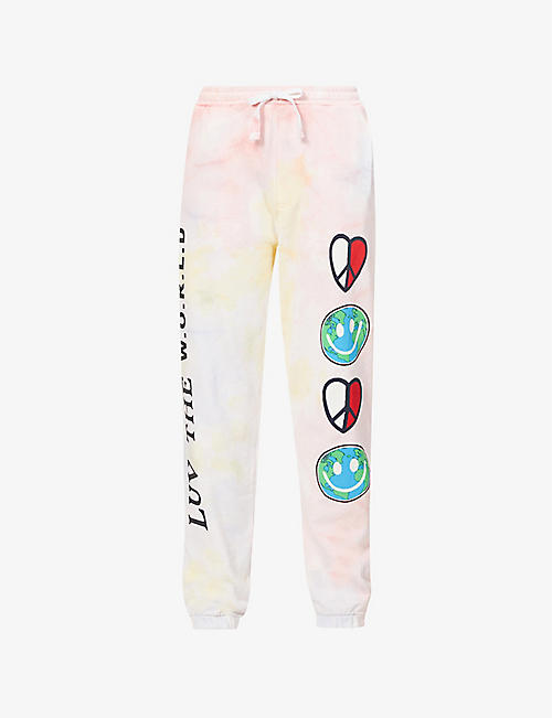 TOMMY JEANS: Luv The World recycled-cotton jogging bottoms
