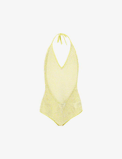 BOTTEGA VENETA: Open-weave cotton-blend knitted body