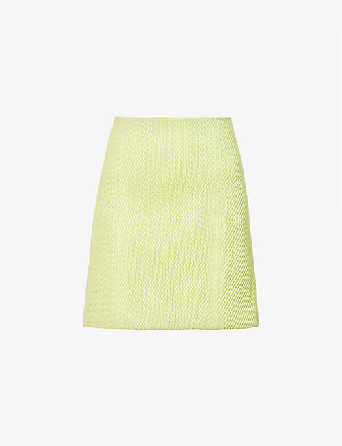 BOTTEGA VENETA: Quilted high-waist leather mini skirt