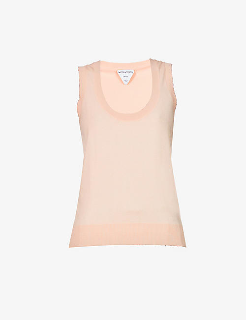 BOTTEGA VENETA: Scoop-neck cashmere-blend vest