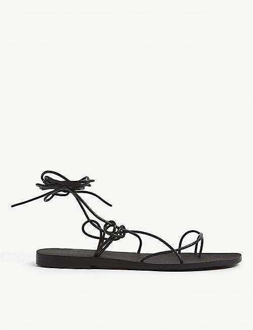 SEAFOLLY: Ikaria logo-embossed leather sandals
