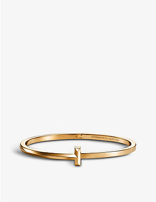 TIFFANY & CO: T1 18ct yellow gold bracelet
