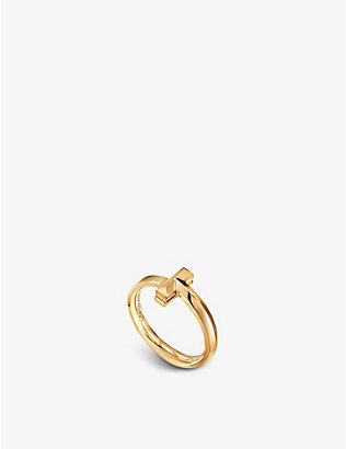 TIFFANY & CO: Tiffany T T1 Narrow 18ct yellow gold ring
