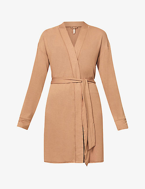 SKIMS: Sleep belted stretch-jersey robe