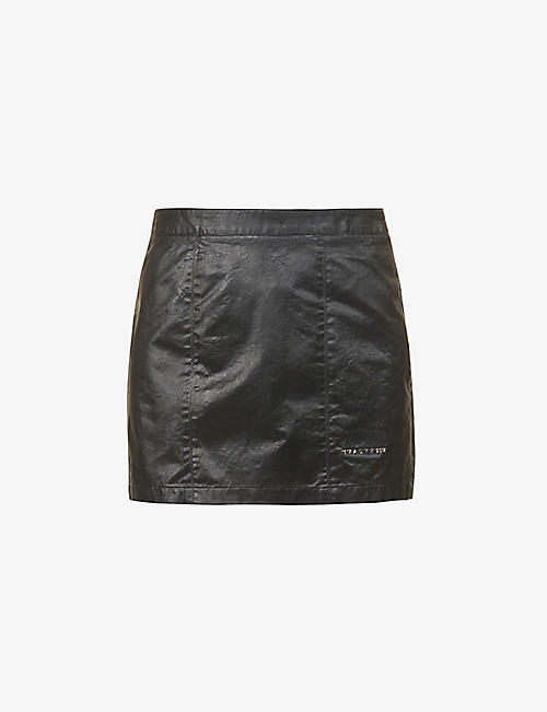 1017 ALYX 9SM: Moonlit high-rise faux-leather mini skirt