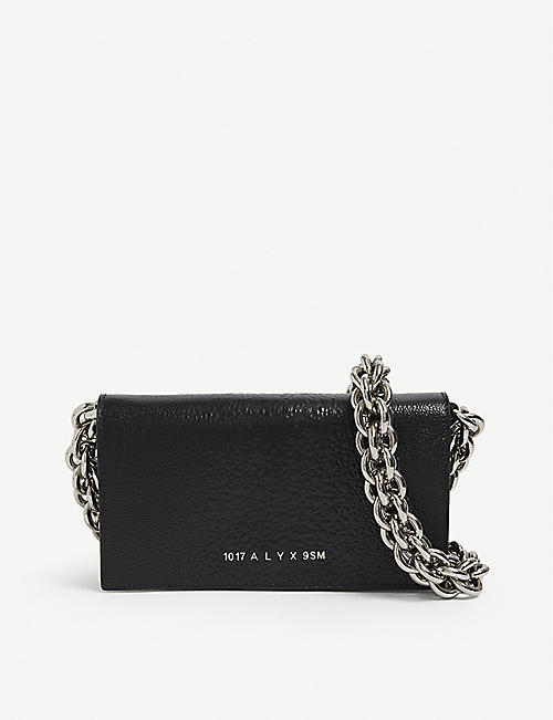 1017 ALYX 9SM: Giulia chunky chain leather clutch bag