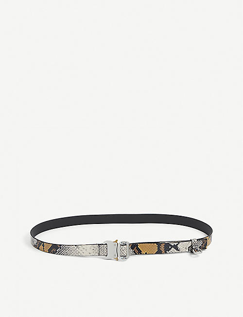1017 ALYX 9SM: Rollercoaster snake-print leather belt