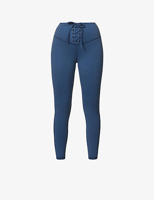 MICHI: Rebel high-rise stretch-jersey leggings