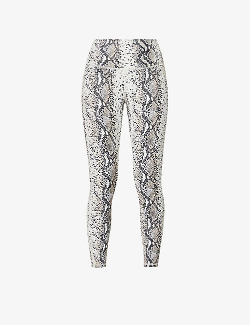 MICHI: Instinct snakeskin-print stretch-jersey leggings