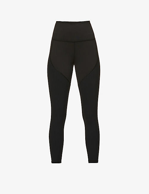 MICHI: Rocket ribbed stretch-jersey leggings